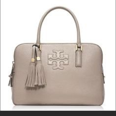 ee8d1c02964d I have this Tory Burch Thea Triple-zip Satchel in dust storm. Great neutral  when I m tired of wearing black.