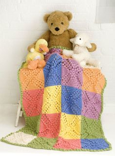 Crochet Patterns Galore - Bobble Blocks Baby Blanket
