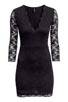 Koronkowa sukienka - Czarny -  0fc74ea75