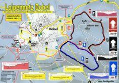 Loipenplan Dobel.  Weitere Langlauf Touren gibt es unter www.albtal-tourismus.de/tourenplaner