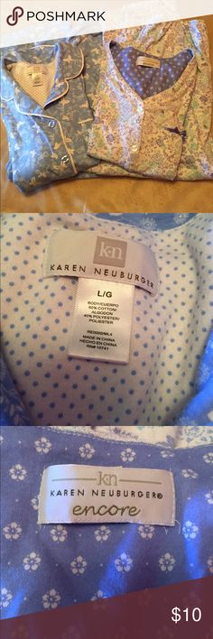 Long sleeve pj's Karen Neuburger pj's. Long pants and long sleeves. Both poly cotton. Great condition. karen neuburger Intimates & Sleepwear Pajamas