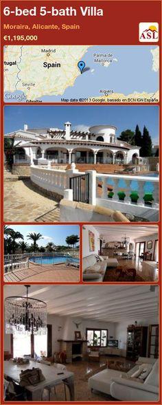 6-bed 5-bath Villa in Moraira, Costa Blanca, Spain ►€995,000 #PropertyForSaleInSpain