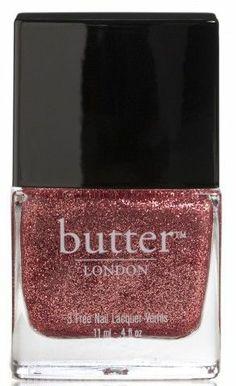 glittery nail polish