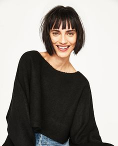 Image 6 of CROPPED SWEATER WITH WIDE SLEEVES from Zara
