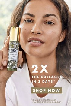 Plantscription Anti-Aging Power Serum doubles collagen in 3 days. Vital-Plant Technology delivers 11 powerful, naturally derived youth-boosters—including our signature Anogeissus & a Bamboo Complex. Minimizes lines & wrinkles at 8 weeks. Instantly plumps away fine, dry lines with moisture & amps up radiance. With continued use, skin looks more vibrant & youthful. Anti Aging Treatments, Skin Treatments, Beauty Skin, Health And Beauty, Beauty Secrets, Beauty Hacks, Face Skin Care, Facial Care, Anti Aging Cream
