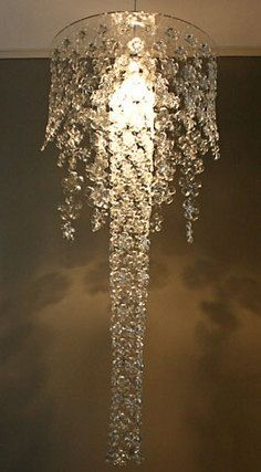 cascade lancashire eco design michelle brand. she used the bottoms of plastic water bottles!