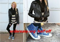 blue converse sneakers are so nice for girls in summer 2014 Discount for Grils in Summer 2014 Blue Converse Shoes, Leggings And Converse, High Top Converse Outfits, Sweaters And Leggings, Converse Sneakers, Cheap Converse, Converse Chuck, Converse High, Fall Wardrobe