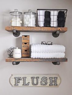 How to Make DIY Rustic Over The Toilet Shelf   My Home Decor Guide