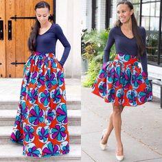 Maxi or midi, Ankara wax print still looks amazing for fashion African Dresses For Women, African Attire, African Wear, African Women, African Style, African Inspired Fashion, African Print Fashion, Tribal Fashion, African Prints