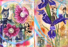 Random Act paintings by Andrea LaHue
