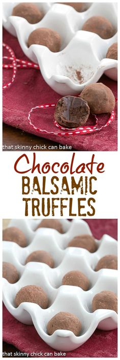 Chocolate Balsamic Truffles | Luscious chocolate candy with a certain je ne sais quoi from the balsamic vinegar @lizzydo