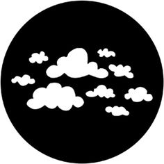Childish Clouds - Stock Gobo for Gobo Light Projectors - Choose your size! Event Decor Direct, Microsoft Dynamics, Steel Windows, 3d Star, Laser Cutting Machine, State Art, Overlays, Graffiti, Clouds