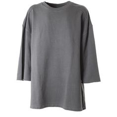 YEEZY BY KANYE WEST Cotton sweatshirt (4.410 ARS) ❤ liked on Polyvore featuring tops, hoodies, sweatshirts, shirts, sweaters, sweatshirt, unique, gray shirt, grey top and adidas originals shirt
