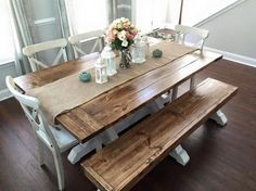 Farmhouse Table U0026 Bench | Do It Yourself Home Projects From Ana White