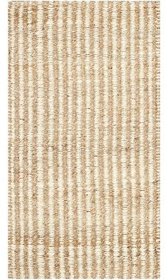 Safavieh Natural Fiber Collection NF734A Hand Woven Natural and Ivory Jute Area Rug (3' x 5') Best Price