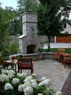 Outdoor Fireplace, Sitting Wall & Patio | Flickr - Photo Sharing!