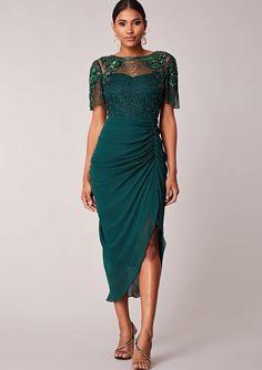 c674884710b Virgos Lounge Emerald Denise Embellished Midi Party Dress 6 to 14   VirgosLounge  BallgownPromDress
