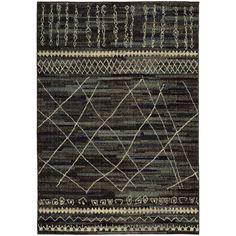 Oriental Weavers Nomad 633N5 Black/Beige Abstract Area Rug
