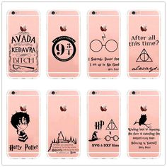 Avada Kedavra Harry Potter Case for SE 5 5S 6 6S 6S 7 Plus Clear Hard plastic Back Cover
