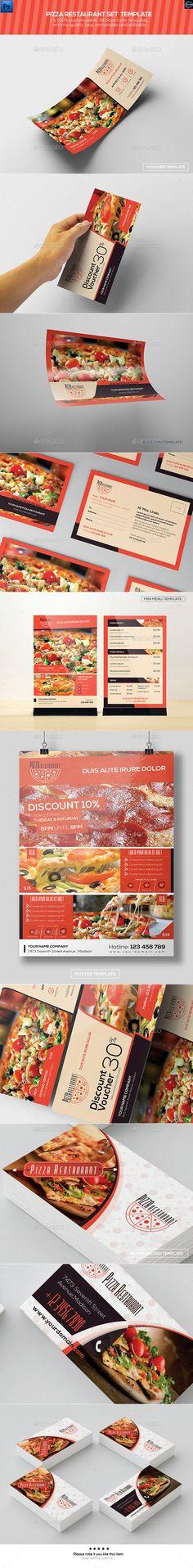 Pizaa Restaurant - Set Template #design Buy Now: http://graphicriver.net/item/pizaa-restaurant-set-template/12843096?ref=ksioks