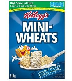 Mr Case Supplier of Kelloggs Mini Wheats Regular delivery to your home or office in Toronto, Ontario, Canada. comes in a case of Kelloggs Mini Wheats Regular Sources Of Fiber, Breakfast Cereal, Junk Food, Oatmeal, Grains, Diet, The Originals, Points, Home