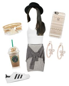 """""""Untitled #206"""" by vgrenalde ❤ liked on Polyvore featuring Topshop, adidas Originals, River Island, Casetify and Forever New"""