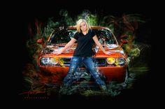 Senior Photo, Photography, Art, Car, Challenger, Girl, Smoke, Color