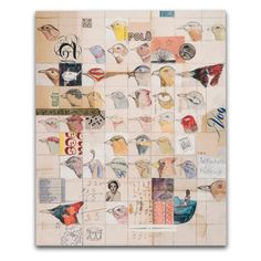 by dolan geiman  I like the grid of small illustrations for a journal page