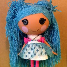 Lalaloopsy Mittens Fluff N Stuff Doll With Blue Yarn Hair. http://stores.ebay.com/Old-Crows-Treasures-24-7?_rdc=1 @old_crows_treasures  #Lalaloopsy #yarn #hair #doll