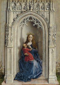 La Virgen con el Niño entronizada - Rogier van der Weyden   Museo Thyssen