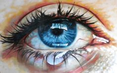 "Close up teary eye Painting Saatchi Online Artist Thomas Saliot; Gemälde ""Close up teary eye"" Thomas Saliot, Saatchi Online, Tears In Eyes, Eye Close Up, Close Up Art, Teary Eyes, Eye Painting, Painting Flowers, Eye Art"