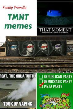 Nice Family Friendly TMNT Memes plus Friday Frivolity