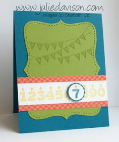 Julie's Stamping Spot -- Stampin' Up! Project Ideas Posted Daily: Stamp of the Month Club: Patterned Party