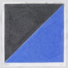Ellsworth Kelly. Colored Paper Image XV (Dark Gray and Blue) from Colored Paper Images. 1976