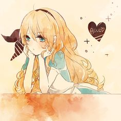 adorable alice alice in wonderland amazing anime anime alce anime alice anime art anime chibi anime girl beautiful bored bow chibi cute fluffy kawaii kawaiigirlie lovely pretty wonderful Anime Girl Cute, Beautiful Anime Girl, I Love Anime, Anime Art Girl, Manga Art, Anime Girls, Awesome Anime, Anime Chibi, Kawaii Anime