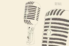 Studio microphone illustration by grop on Creative Market