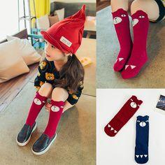 Fox socks Children Girls Boys Socks knee-length baby leg warmers Unisex baby boys girls socks My Neighbor Totoro/Panda/Bear