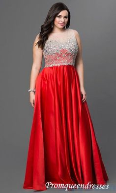 2017 Custom Made Red Plus Size Prom Dress,Sexy Beading Evening Dress,Sleeveless Party Gown,Floor Length Prom Dress,High Quality