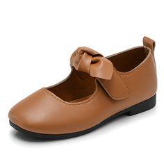 daea84ebf 2017 Children School Uniform Shoes Girls Dress Shoes bowtie Black Leather  shoes Pretty Comfortable For Kid