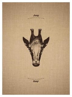 """Jeep: Giraffe-Penguin - """"See whatever you want to see."""" #Advertising"""