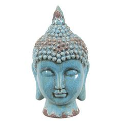 $47.99 @Overstock.com.com - Blue Ceramic Buddha Head  - This beautiful ceramic Buddha head has a unique look with lovely details and brilliant blue finish. This piece is mad of beautiful, durable ceramic.  http://www.overstock.com/Home-Garden/Blue-Ceramic-Buddha-Head/6996459/product.html?CID=214117 $47.99