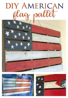 DIY American Flag Pallet - Southern State of Mind