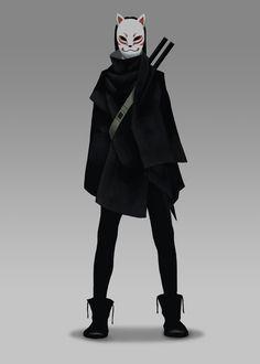 kitsune cran julian on artstation at www artstat - The world's most private search engine Fantasy Character Design, Character Design Inspiration, Character Concept, Character Art, Concept Art, Inspiration Art, Art Reference Poses, Design Reference, Kitsune Maske