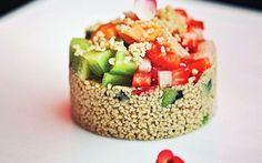 Salada de frutas com cuscuz marroquino