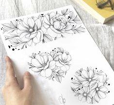 Mini Tattoos, Body Art Tattoos, Small Tattoos, Sleeve Tattoos, Cool Tattoos, Tatoo Flowers, Flower Tattoos, Tattoo Sketches, Tattoo Drawings