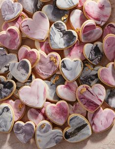 Valentine's Day ideas including easy-to-make marble cookies. Valentine's Day ideas including easy-to-make marble cookies. Fondant Cookies, Royal Icing Cookies, Cupcakes, Valentine's Day Sugar Cookies, Iced Cookies, Black Wedding Cakes, Beautiful Wedding Cakes, Wedding Cookies, Wedding Desserts