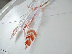 plumes en perles hama Aline au pays des mailles