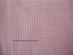Reduced  Sewing Fabirc Pink and white gingham  by flyingdollar, $4.99