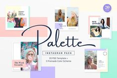 Instagram Pack - Palette by muhisya on @creativemarket