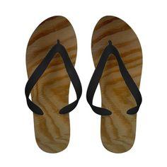 """Wood Pattern Sandals"""